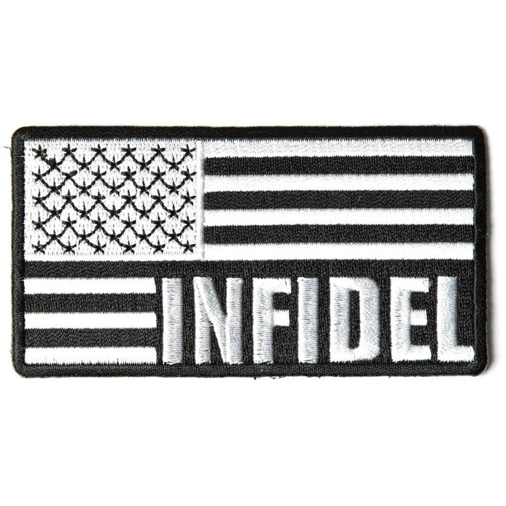 Infidel American Flag Black White Patch