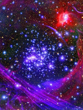 Arches Cluster: the densest known star cluster in the Milky Way lo-cated about 100 ly from its center, in the constellation Sagittarius. This cluster is approx. 1 ly across