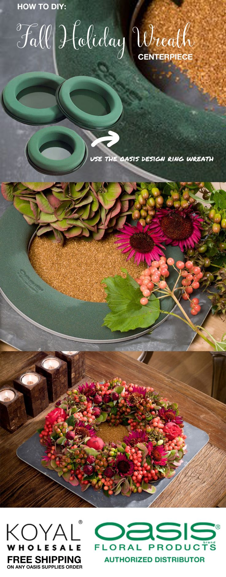 Diy Fall Winter Centerpiece Wreath Idea For Weddings, Thanksgiving, And  Christmas How To Diy