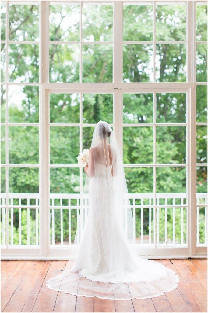 3109 Piedmont Estate, Atlanta Wedding Venues, Cathedral veil, bridal portrait inspiration, Atlanta Wedding Photography, Lace veil www.annakphotography.com