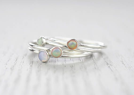 Opal ring Dainty Opal ring Opal jewelry Stacking Opal ring