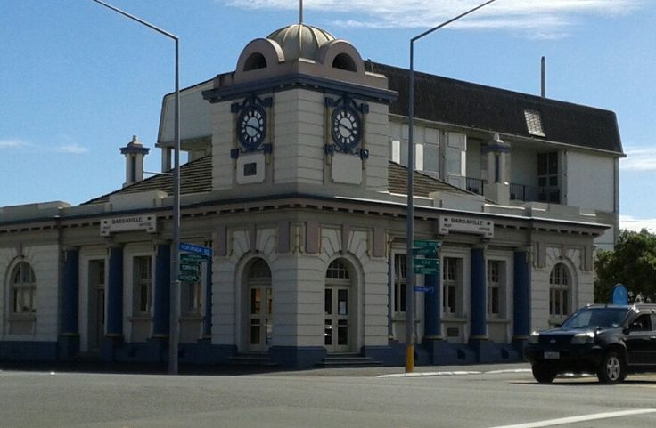 The Old Dargaville Post Office. No longer a PO but still impressive building on corner of Hokianga Road and Normanby Street.
