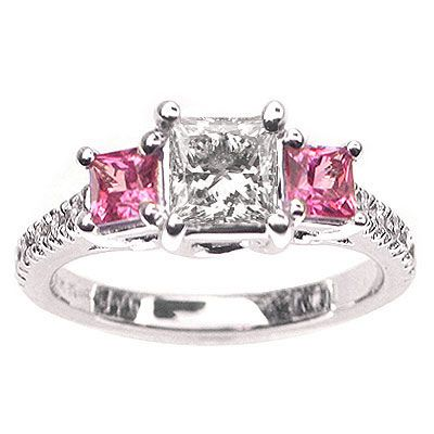 pink diamond i so want this this would be the best wedding ring ever love the color the cut - Pink Diamond Wedding Ring