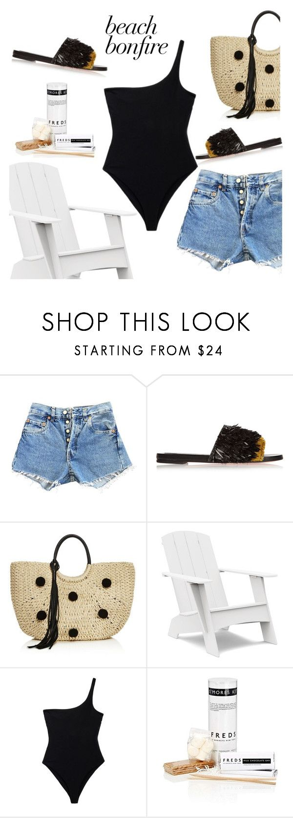 """""""Bonfire"""" by petra0710 ❤ liked on Polyvore featuring Levi's, Rochas, Rebecca Minkoff, Loll Designs, Mara Hoffman and FREDS at Barneys New York"""