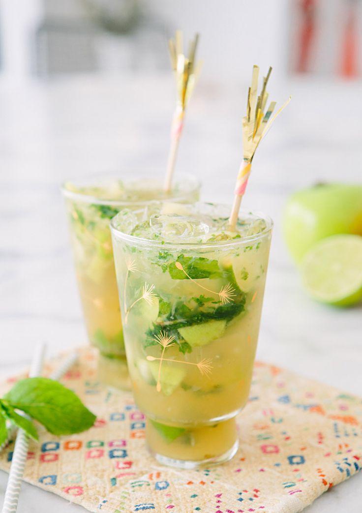 Green Apple Mojitos #mojitos #fruit #cocktails