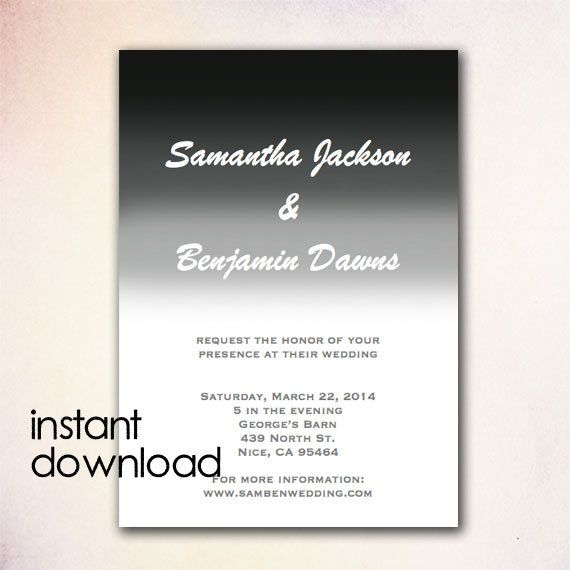24 best DIY Wedding Invitation Templates - Instant Download images - best of wedding invitation design download