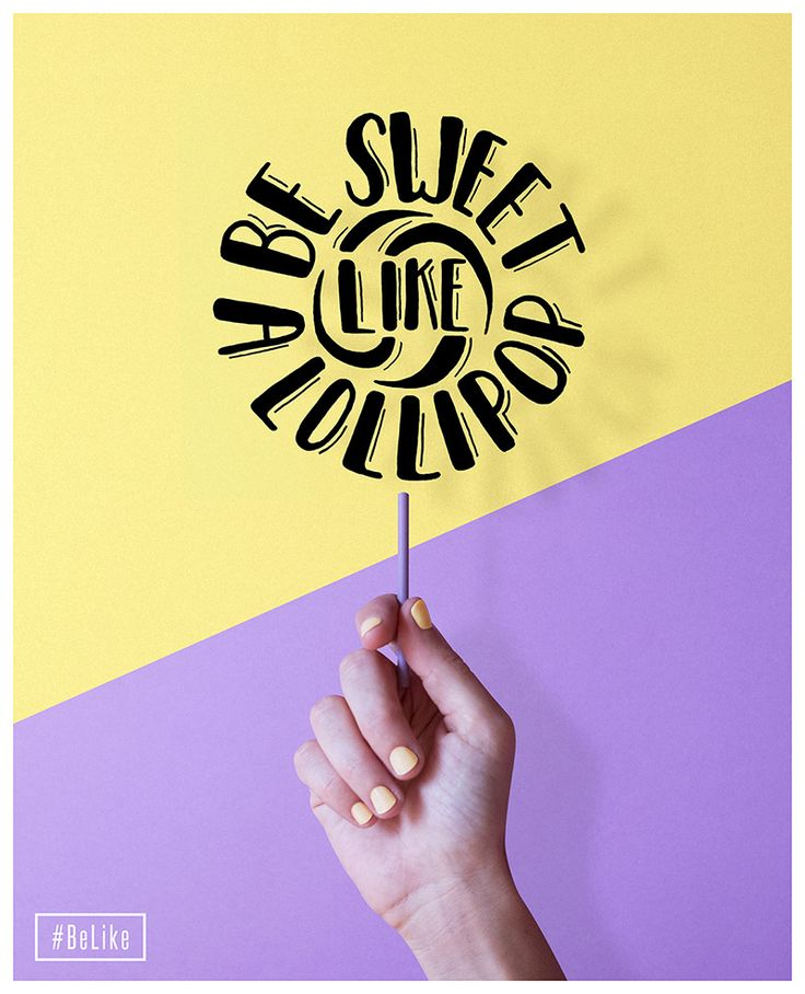 Be sweet like a lollipop design