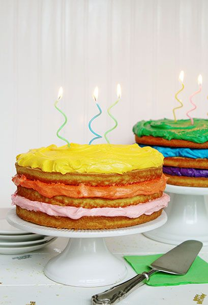 A Naked Cake in honor of all the September Birthdays! via @iambaker