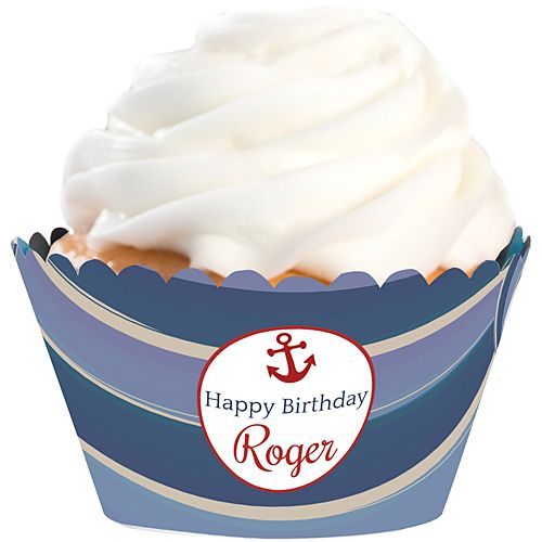 Nautical Trends Personalized Cupcake Wrappers