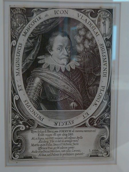 Part of the Art Collection of Prince Władysław IV Vasa (9 Jun 1595-20 May 1648) Poland. Drawing by Lucas Killian before 1632 of Prince Władysław IV Vasa (1595-1648) Poland.