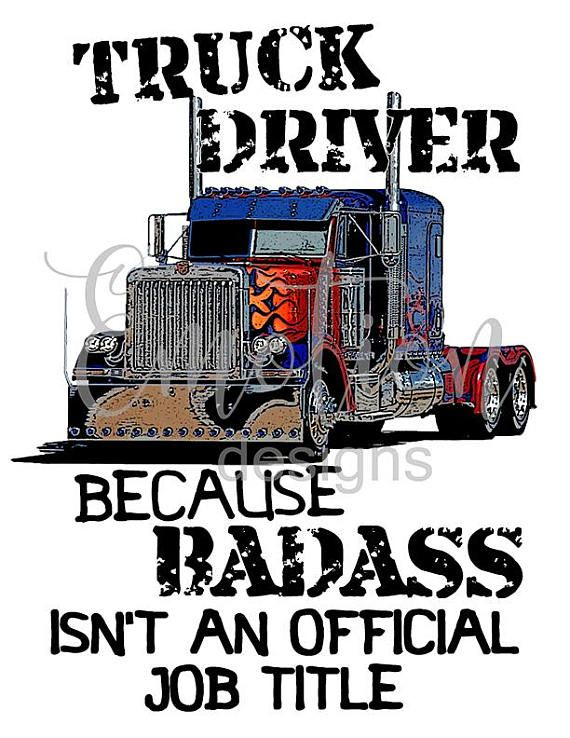 Truck Driver Badass Clipart Instant Download Truck Driver