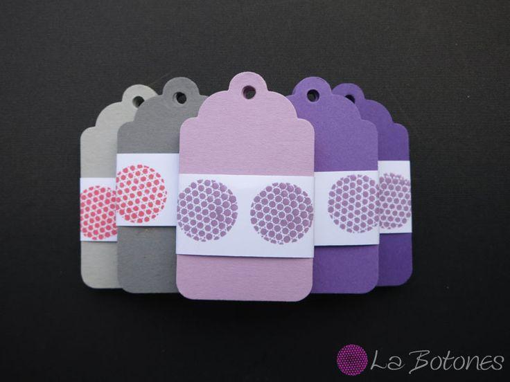 25 Preisetiketten Geschenkanhänger Tag lila von La Botones auf DaWanda.com