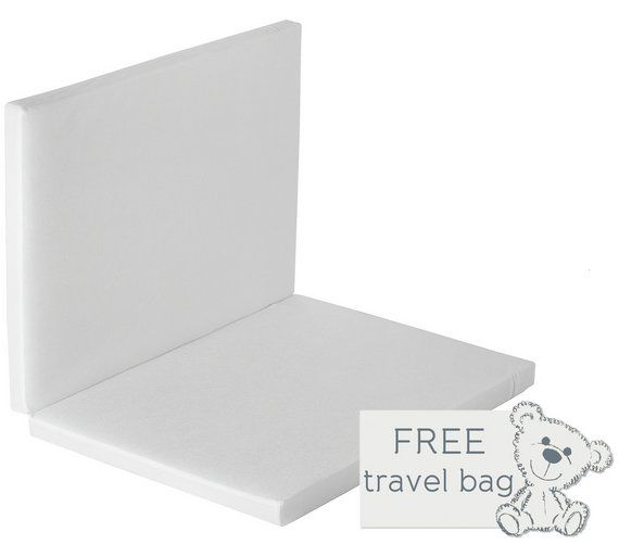 Baby Elegance Foldable Travel Cot Mattress 100x70cm At Argos Co Uk