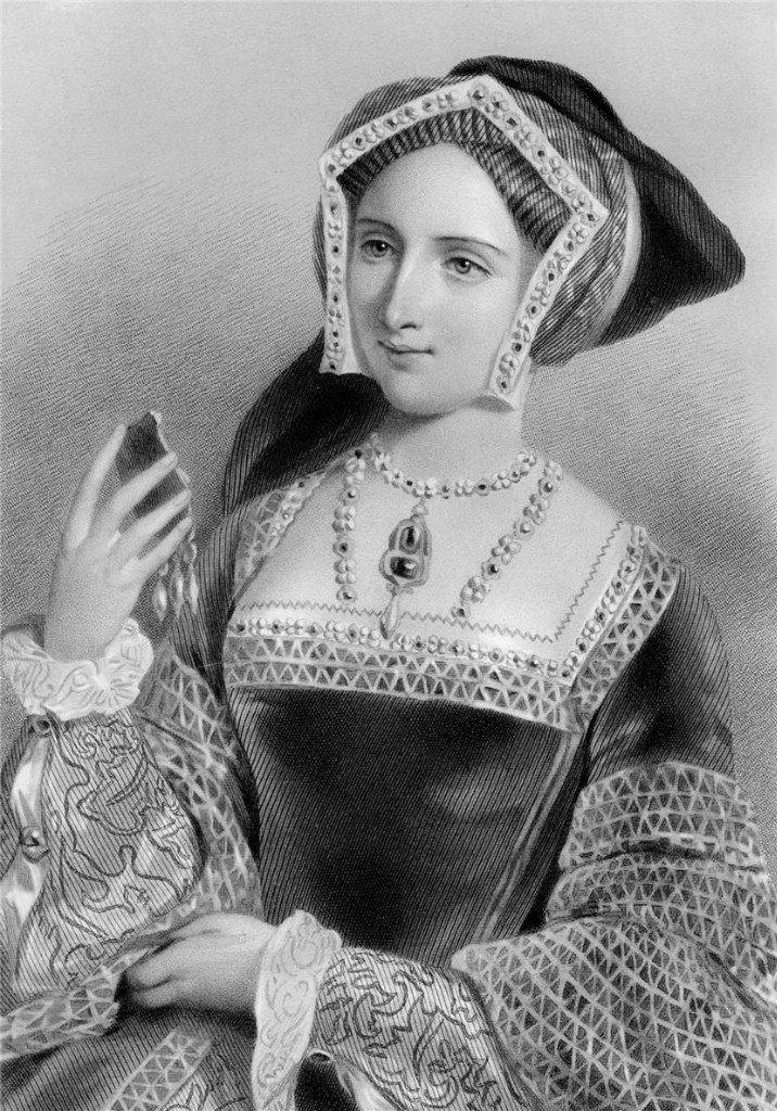 Джейн Сеймур (1508/9-1537), третья жена Генриха VIII, рис. Д.Райта