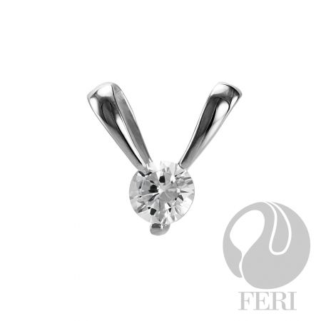 Puppy Love Pendant. $75. Sterling Silver set with AAA white cubic zirconia.