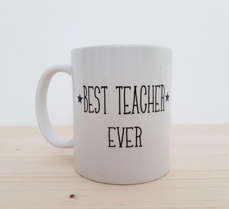 """Becher & Tassen - Tasse """"best teacher ever"""" für Lehrer - ein Designerstück von rumpelstielschen-for-teachers bei DaWanda"""