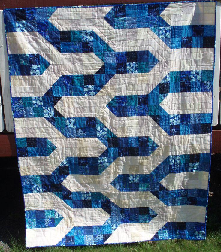 Found pattern explanation on pinterest in March, now I have made my own  favorite color blue. Fant mønster forklaring på pinterest i mars, nå har jeg sydd min egen i yndlingfargen blå.