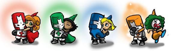 Castle Crashers and their princesses