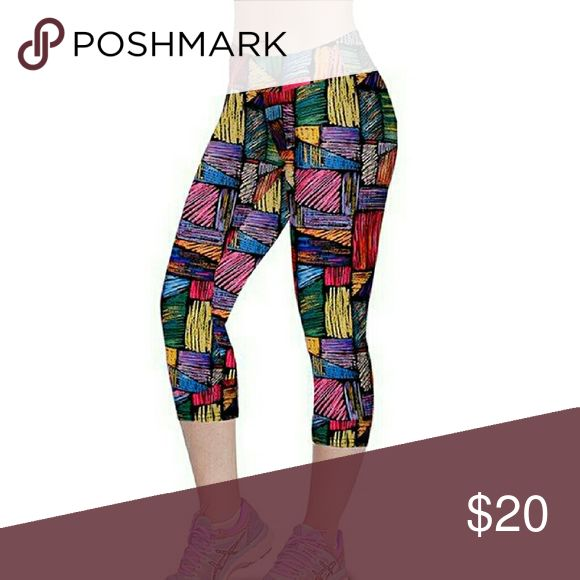 Unique multi color gym leggings- Brand new multi color unique design leggings Boutique Pants Leggings