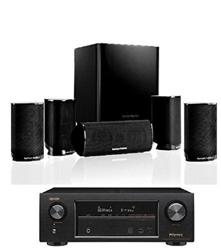 Harman Kardon HKTS 9BQ 5. 1-channel Home Theatre Speaker System with Denon AVR-X 1300W //Price: $399.00 & FREE Shipping //     #hashtag1