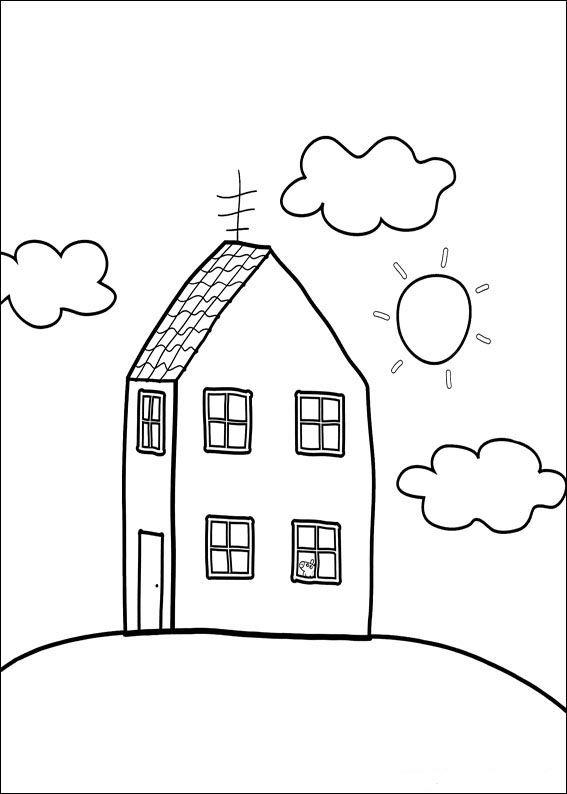 287 best Jeux images on Pinterest Speech language therapy, Fine - dessin de maison a imprimer