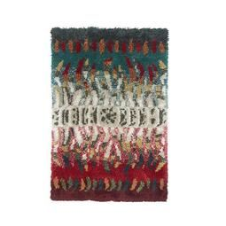 Finnish Rya Rug by Laila Seppa  Vintage 1960s Mid Shag Rug Wall Art  This mid century rug art is in excellent condition. Created by famed rya maker Laila Seppä which can be used on floor or hung on the wall. Ready for pick up, delivery, or shipping anywhere in the world.