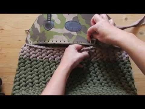 Borsa e scaldacollo in lana all'uncinetto | Tutorial fondo rettangolare piatto - YouTube