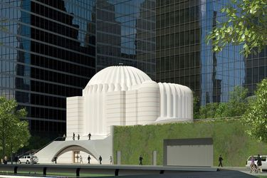 Work halted on church near 9/11 site in NYC  Skanska ordered the stoppage as estimated costs jumped from $50 million in September to as much as $78 million.