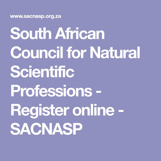 South African Council for Natural Scientific Professions - Register online - SACNASP