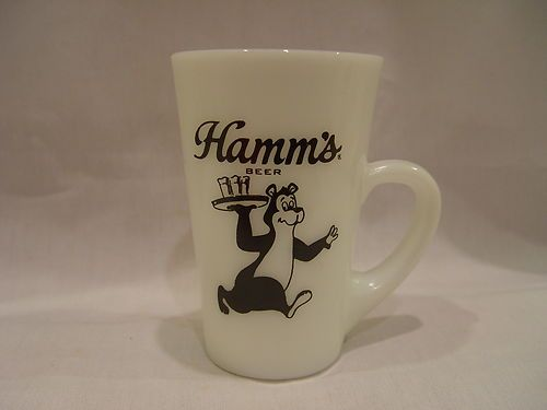 Tall Fire King Hamm's Beer Theodore Bear Patio Style Advertising Mug | eBay.   Sold for $49.99  plus $8.95 S&H