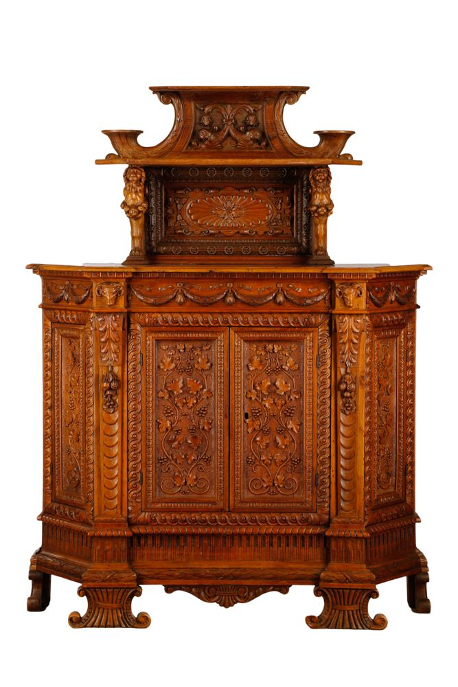 Carved Italian Renaissance Revival Style Sideboard