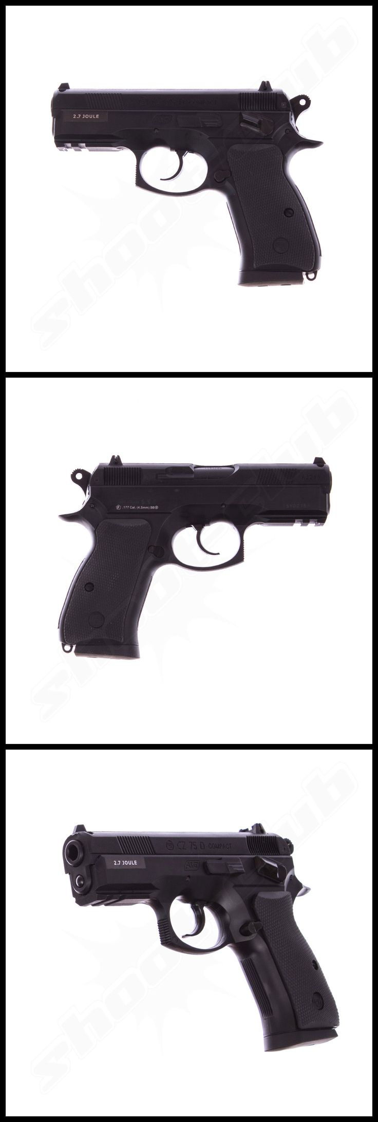 Brünner CZ 75D Compact CO2 Pistole Non Blow Back  4,5mm Stahlkugeln   - Weitere Informationen und Produkte findet ihr auf www.shoot-club.de -    #shootclub #gun #pistol #cz #Pistole
