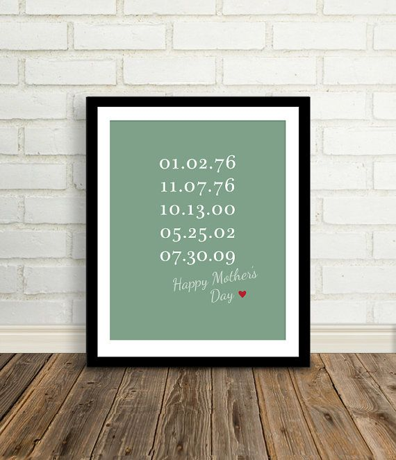 Gift for Mom Mother's Day Present Custom by BetweenEverything, $24.00