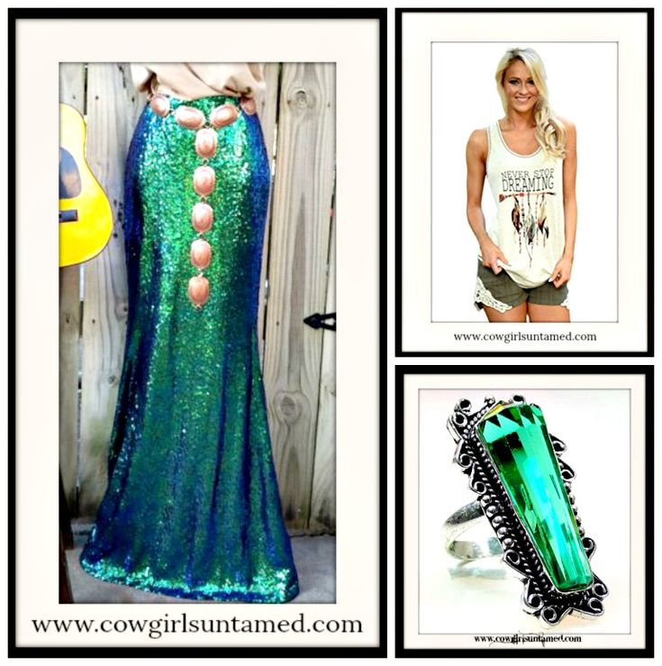 COWGIRL GYPSY RING Green Apatite Gemstone 925 Sterling Silver Vintage, sequin maxi skirt, feather tank top  #fashion #style #sequin #skirt #maxiskirt #cowgirl #gypsy #boho #feather #tanktop #top #western #rodeo #NFR #gemstone #silver #ring #jewelry #antique #vintage #shopping #boutique #sterlingsilver #accessories