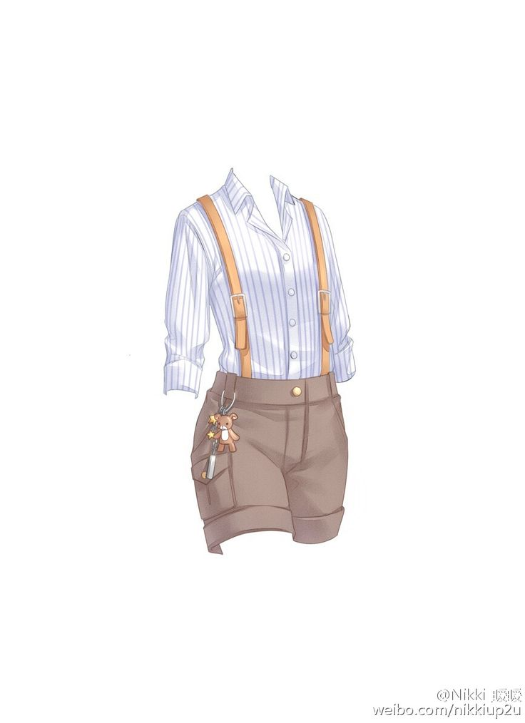 ensemble short pants shirt