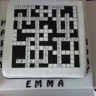 Crossword Cake Images