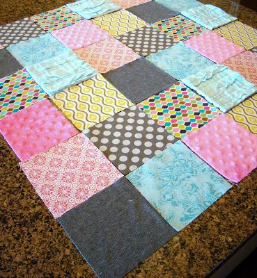 Easy quilt for beginners using any scrap fabric you may have.
