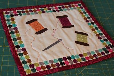 Cute Mug Rug for quilters or people that sew--db    Love this