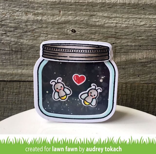 the Lawn Fawn blog: Lawn Fawn Intro: Little Fireflies, Lights Out, Glow in the Dark Embossing Powder + a Giveaway!