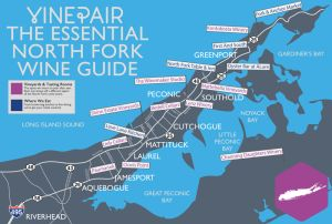 The Essential North Fork Wine Guide Map #NY #wine #map
