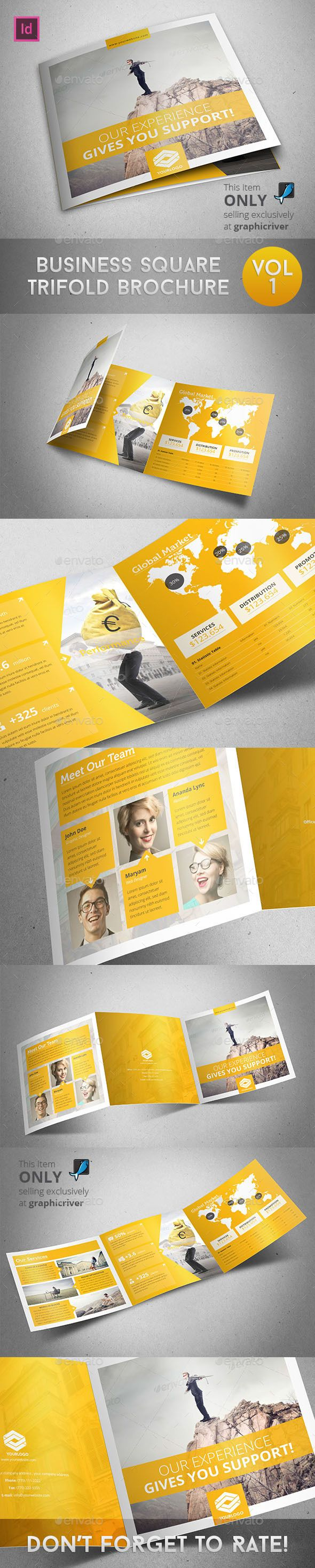 Business Square Trifold Brochure Template #design Download: http://graphicriver.net/item/business-square-trifold-brochure/9800512?ref=ksioks
