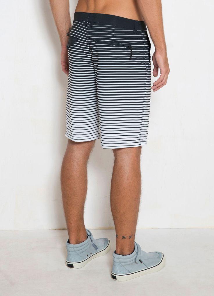 Short Surf Stripe Degradee