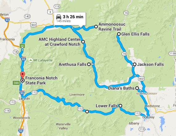 Travel | New Hampshire | Waterfall Road Trip | Waterfalls | Waterfall Tour | Natural Wonders | Nature