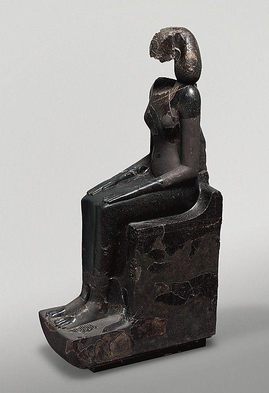 Hatshepsut Wearing the khat Headdress  Date: ca. 1473–1458 B.C.  Deir el-Bahri, Senenmut Quarry and temple, lower court, MMA 1928-1930  Accession Number: 30.3.3