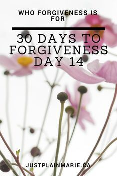 So exactly who is forgiveness all about? Well, it's not about THEM! It's not about that horrible boss, or your ex-spouse, or your abusive parents.