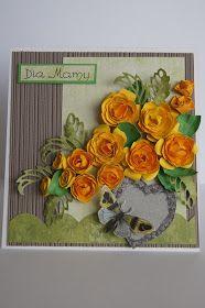 Kartkowy Świat Gosi: Żółte róże