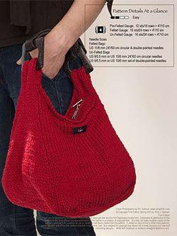 Noni Nomad Hobo Bag Pattern No. 141 at Dream Weaver Yarns LLC