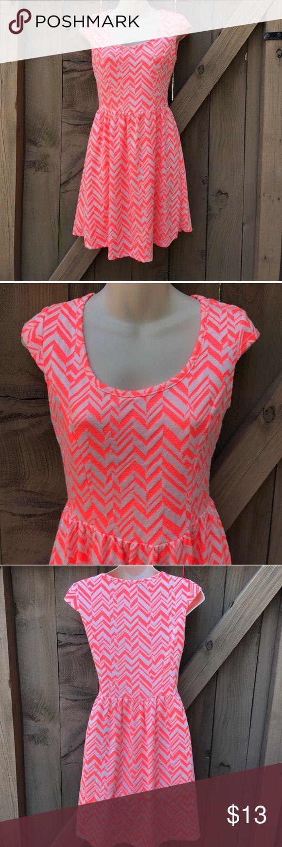 Size M Rue 21 orange chevron cap sleeve dress Size M Rue 21 orange chevron cap sleeve dress Rue 21 Dresses
