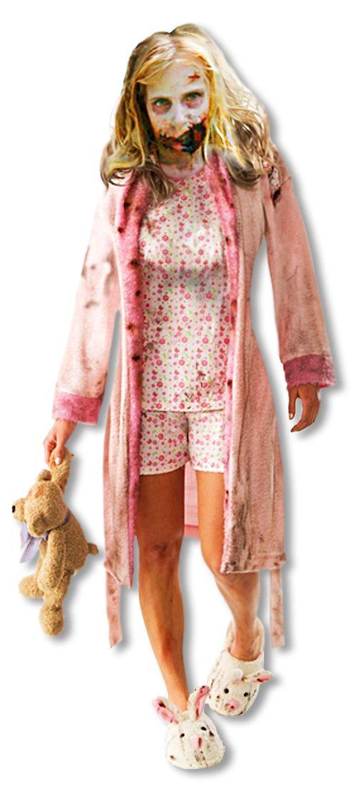 The Walking Dead Zombie Girl Kostüm - Verwandle dich in das kleine Zombie Mädchen aus der beliebten Fernsehserie The Walking Dead
