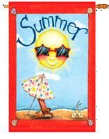 28 x 40 in. Fun in Summer Banner Flag Dyed Sublimation, Double Sided